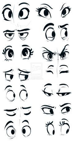 How to draw cartoon eyes? Yes, it is very easy to draw cartoon eyes. The eyes are among the most important features for any cartoon. Drawing Eyes, Drawing Sketches, Sketching, Cartoon Eyes Drawing, Cartoon Sketches, Eye Sketch, Drawing Art, Drawing Cartoons, Cartoon Illustrations