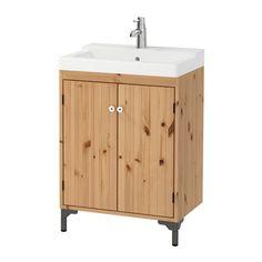 "SILVERÅN / TÄLLEVIKEN Sink cabinet with 2 doors - light brown, 23 5/8x16 1/8x34 1/2 "" - IKEA $199"