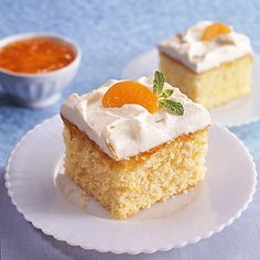 Try this fresh spring dessert idea: Mandarin Marmalade Cream Cake