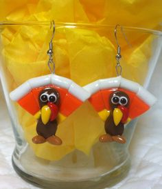 Thanksgiving Turkey Polymer Clay earrings