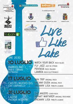Tre appuntamenti musicali sul Garda si riuniscono nella rassegna itinerante Live Like Lake dal 10 al 31 luglio 2015 @gardaconcierge