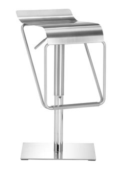 Zuo Modern Dazzer Barstool in Stainless Steel