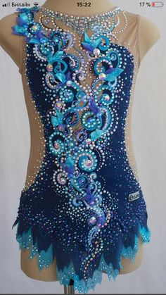Rhythmic Gymnastics Costumes, Gymnastics Suits, Bead Embroidery Patterns, Beaded Embroidery, Dance Outfits, Dance Dresses, Glitter Party, Figure Skating Dresses, Ballroom Dress