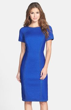 Tadashi Shoji Quilted Sheath Dress available at #Nordstrom