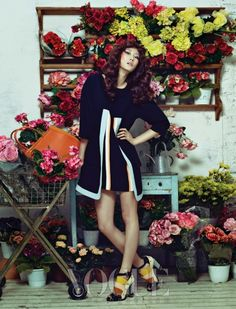 "The Terrier and Lobster: ""Flower House"" in Vogue Korea April 2013"
