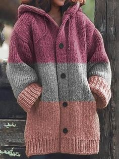 Crochet Cardigan, Knit Crochet, Knitted Fabric, Knit Fashion, Women's Fashion, Sweater Coats, Mode Outfits, Crochet Clothes, Types Of Sleeves