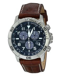 f96e47a6e Citizen Men's Titanium Eco-Drive Watch with Leather Band Online Exclusive!  Take things up a notch with this perpetual calendar chronograph.