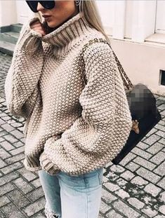Plus size knitted sweater women Casual loose turtleneck sweater pull femme 2019 Winter warm sweaters Knitting pullover tops, Khaki / XXXL Plus Size Pullover, Handgestrickte Pullover, Pullover Sweaters, Knit Sweaters, Tunic Sweater, Warm Sweaters, Casual Sweaters, Sweaters For Women, Chunky Sweaters