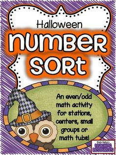 FREEBIE!! Your students will love sorting these Halloween candies and cookies into the correct jars! Students will sort the 36 number cards by even and odd numbers and write their answers on the included recording sheet. Color and black / white versions are included.    1st page of numbers - #1-12  2nd page of numbers - #15-50  3rd page of numbers - #50-100
