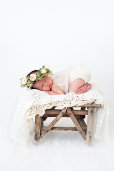 Newborn Baby Girl Newborn Floral Crown B Couture Photography