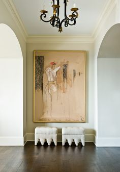 Great looking painting by Belgium artist Patrick Villas  in this entry. Via | Atlanta Homes & Lifestyles