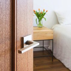 Details matter. Sleek, modern door hardware by Emtek makes all the difference.