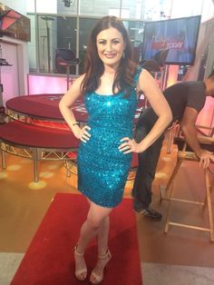 Rachel Reilly on Hollywood Today Live wearing #SCALA 47644 Turquoise! www.scalausa.com