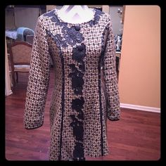 Coat/ dress This piece can be worn as coat or dress perfect with pair of boots nwot No Dresses Midi