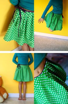 DIY Clothes Refashion: DIY The patternless pleated skirt