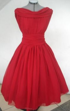 I found 'An Eye Catching 50s Vintage Style Cocktail Dress In Red Chiffon Custom' on Wish, check it out!