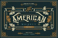 American Whiskey by Burntilldead on @creativemarket