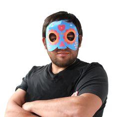 Don Rodrigo's paper calavera mask for a Day of the Dead party!
