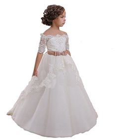 Find CoCoBridal Lace Flower Girls Dresses Girls First Communion Dress Princess Wedding online. Shop the latest collection of CoCoBridal Lace Flower Girls Dresses Girls First Communion Dress Princess Wedding from the popular stores - all in one Cheap Flower Girl Dresses, Tulle Flower Girl, Wedding Flower Girl Dresses, Wedding Gowns, Party Wedding, Prom Gowns, Tulle Wedding, Girls Dresses Online, Girls Pageant Dresses