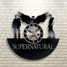 Supernatural_Exclusive Wall Clock Made Of Vinyl Record_Gift