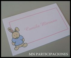 Tarjetas Personales Infantiles.