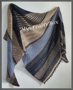 """Tuch """"Twilight"""", Anleitung von MyCreativBox, Größe: 190 x 75 cm, gestrickt mit Sockenwolle"""