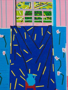 Details of Pink Studio Harry by Guy Yanai 2016 #painting