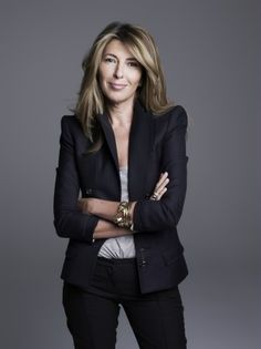 The ever fabulous Nina Garcia.   If square shape wear all one color to elongate your silhouette