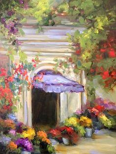 Balboa California Flower Market by Texas Artist Nancy Medina, painting by artist Nancy Medina