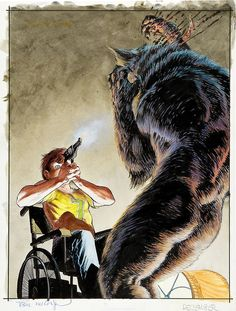 Cycle of the Werewolf original book cover illustration by Bernie Wrightson, published by Land of Enchantment, 1983.