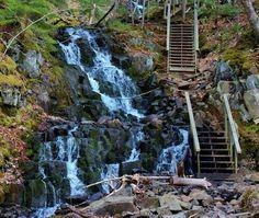 Stairway to the falls --Blomidon Provincial Park,N. Atlantic Canada, Weather Network, Prince Edward Island, New Brunswick, Newfoundland, Nova Scotia, Vacation Destinations, Stairways, Waterfalls