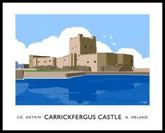 CARRICKFERGUS CASTLE art print