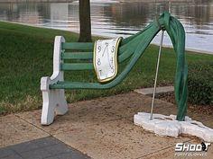Salvador Dali Green Bench