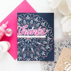 Simon Says Stamp | Bohemian Lace-Like Backgrounds. Thank You Cards by Yana Smakula #simonsaysstamp #ssssendingsunshine #cardmaking #stamping #yanasmakula