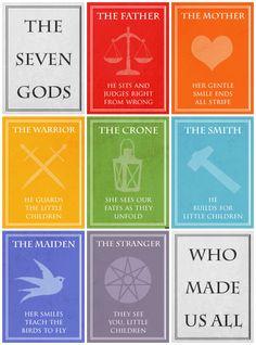 ASoIaF - The Seven Gods (Faith of the Seven) by *black-lupin on deviantART #got #agot #asoiaf