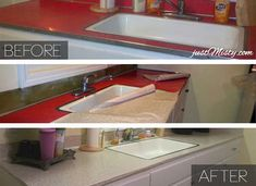 """Turn old laminate counters into """"granite"""" with special contact paper"""
