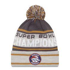 12d8420d0c2 Men s New Era Graphite Gray Denver Broncos Super Bowl 50 Champions Cuffed  Knit Hat with