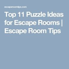 Top 11 Puzzle Ideas for Escape Rooms | Escape Room Tips