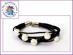 Leather Shamballa style bracelet.  £6 plus postage.