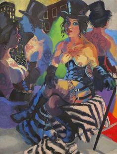 Wendy Sharpe Birth 1960 Sydney, New South Wales, Australia Studies Art Certificate, Seafor. Australian Painters, Australian Artists, Joan Miro, Matisse, Art Certificate, Fat Art, Street Gallery, Postmodernism, Pin Up Art