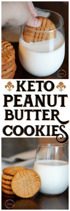 Butter Cookies Delicious and simple Keto Peanut Butter Cookies you will love! Perfect for your weekly meal prep to include a little bite of something sweet!Delicious and simple Keto Peanut Butter Cookies you will love! Perfect for your weekly meal prep to Keto Cookies, Keto Peanut Butter Cookies, Cookies Et Biscuits, Super Cookies, Keto Biscuits, Healthy Cookies, Keto Fat, Low Carb Keto, Low Carb Recipes