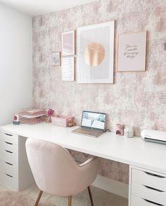 Teen Bedroom Designs, Bedroom Decor For Teen Girls, Room Ideas Bedroom, Cozy Home Office, Home Office Decor, Home Decor, Study Room Decor, Cute Room Decor, Home Room Design