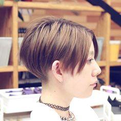salon work : kariage bob #hair #hairstyle #hairdesign #ヘア #ヘアスタイル #ヘアデザイン #デザインカラー#ハイトーンカラー#刈り上げボブ#ショート#いわき#いわき市#slundre#スランドル