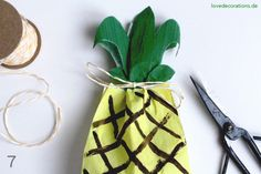 DIY Ananas Tüten // DIY Ananas Treat Bag