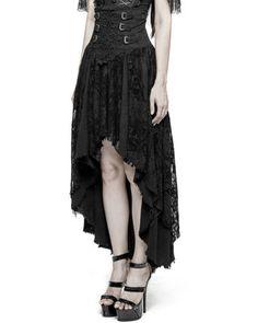 27ceb11afe4 Punk rave gothique jupe noir long en dentelle steampunk vintage corset  victorien sorcière