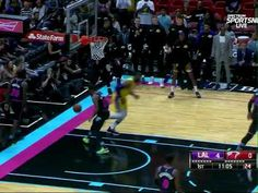 Lebron on fire againts Heat - Dunking all over Miami Lebron James Lakers, Miami Heat, Basketball Court, Fire, Sports, Youtube, Hs Sports, Sport, Youtubers