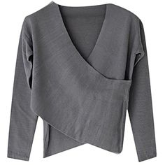 8d174be1ca Women s Criss Cross Wrap Front V Neck Long Sleeve Knit Sweater    Click on  the