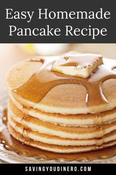 Mcdonald's Pancake Recipe, Perfect Pancake Recipe, Basic Pancakes Recipe, Fun Baking Recipes, Waffle Recipes, Sweet Recipes, Bean Recipes, Dessert Recipes, Desserts