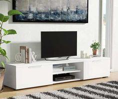 Ideas living room white tv stand tvs for 2019 Streamlined Sofa, Apartment Essentials, Living Room Tv, Tv Stand Designs, First Apartment Essentials, Entertainment Center, Furniture, Living Room Arrangements, White Tv Stands