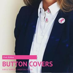 Change the way you show support with Pink Ribbon Button Covers MadetoALTR.com